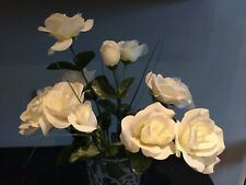 artificial flowers White Roses ( Flowers Only Not Vase)