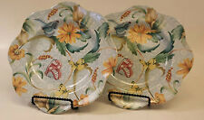 Set of (2) Spode EXOTIC GARDEN Luncheon Plates 9 3/4 inches -  #F2031 A5