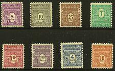 France Scott #475-76A, 476C-76F & 476H, Singles 1944 FVF MNH