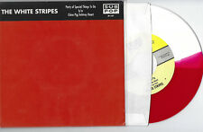 """THE WHITE STRIPES Party Of Special Things To Do 2000 Sub Pop red/white 7"""" Vinyl"""