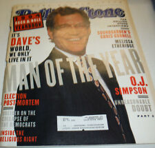 Rolling Stone Magazine David Letterman & O.J. Simpson December 1994 050715R2