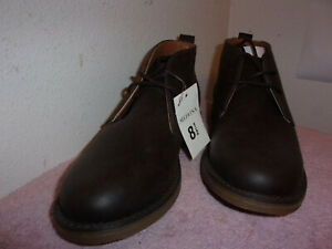 BRAND  NEW MEN'S MERONA ETHAN BROWN CASUAL OXFORD ANKLE BOOT SHOES