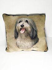 Robert May Throw Pillow 15x17 Terrier Dog Tapestry Lhasa Apso, Shih Tzu, Tibetan