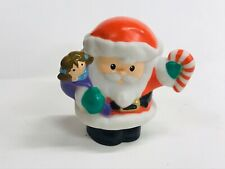 Fisher Price Little People Santa Claus Candy Cane Doll GC Christmas Visit From