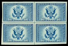 Scott 771 1935 16c Dark Blue Air Post Center Line Block of 4 Mint VF NH Cat $65