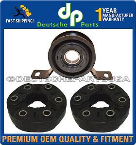 Jaguar S-Type Driveshaft Propshaft Center Support Bearing + Flex Disc Guibo Set