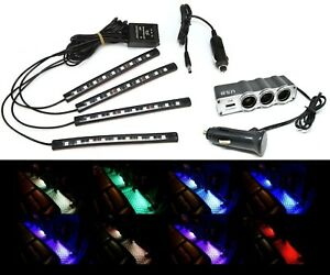 LED Strip Car RGB Interior Light Kit 9006XS HB4A Bluetooth Wireless Floor Dash
