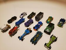 HOT WHEELS - Mixed Lot of 15 - Race Cars, trucks, helicopter, Batmobile & more