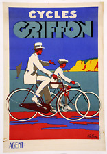 Cycles Griffon- Original Vintage Bicycle Poster - Cycling - Favre