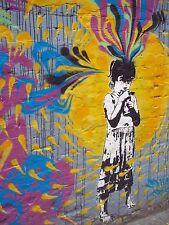 "banksy Style south america  street graffiti Colombia Print poster 47"" x 36"""