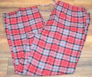 Croft & Barrow Flannel Lounge Pants Men's Big & Tall Sizes Red Plaid