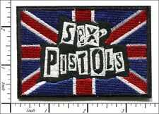 10 Pcs Embroidered Iron on patches Sex Pistols Flag 6x6.1cm AP051bB