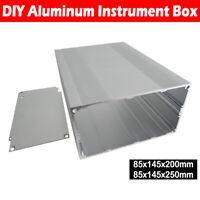 Aluminium Gehäuse Box Platinen Sicherheit Elektronik Netzteil Montage 145x200mm