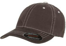 6386 Flexfit Contrast Stitch Dad Hat Garment Washed Low Profile Flex Fit Cap