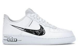 NIKE AIR FORCE 1 LOW SKETCH Herrenschuhe Turnschuhe Leder Sneakers  CW7581 101