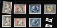 #6892 Complete MNH stamp set w / overprints 1942 Postal Congress Austria Germany