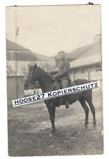 Foto Angehöriger Gardeulanen Rgt.3 Ulanka Pferd feldgrau 1.WK AK original