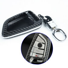 1x Carbon-Fiber Key Fob Case Chain Cover For BMW F15 F16 G05 G20 G30 G32 G11 G01