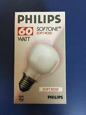 4 X Philips T60 Softone Hint Of Pink Glühbirne 60w E27
