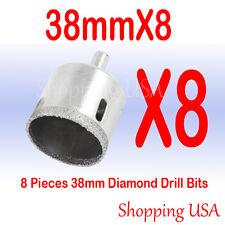 8 Pcs 38mm Diamond Drill Bits Hole Saw Set Tool Glass Marble Ceramic Granite