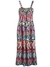 LabelBe ladies dress plus size 22 pink multi tribal print shirred top calflength