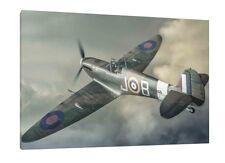 Spitfire 30x20 Inch Canvas - WWII Framed Picture Art Poster World War 2 Artwork