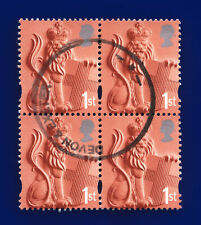 More details for 2001 sg en2 1st lion & shield xen2 block (4) devon & exeter fine used  ctuy