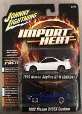 JOHNNY LIGHTNING IMPORT HEAT 1999 NISSAN SKYLINE GT-R {BNR34} & '92 NISSAN 240Z