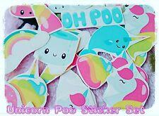 Unicorn Poo Stickers,Tumblr stickers/laptop sticker/fun stickers/Kawaii stickers