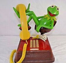 Vintage Kermit the Frog Phone 1983 Jim Henson Push Button
