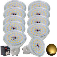 10er 7W GU10 LED SMD LED STRAHLER SPOT LICHT LAMPE BIRNE LEUCHTMITTEL Warmweiß