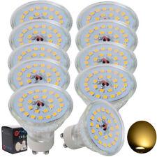 10er LED 7W GU10 SMD STRAHLER SPOT LICHT LAMPE BIRNE LEUCHTMITTEL Warmweiß 2700K