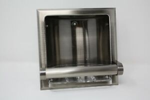 Vintage NuTone Hall Mack Recessed Soap Dish & Bar HM-1665P Pewter with Tray