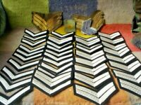 69 MATERIAL SILVER RANK STRIPES SGT CPL L/Cpl SEE ALL PICS MILITARY SEW ON.