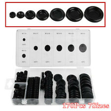 Rubber Grommet Firewall Hole Plug Set Electrical Wire Gasket Kit For Car 170Pcs