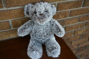 BABY Plush KELLYTOY Brown BEAR White Fur Fuzzy Rattle Crinkle Ear Stuffed Animal