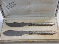 Couteaux à Beurre et Fromage en Argent Massif Silver Silber 2