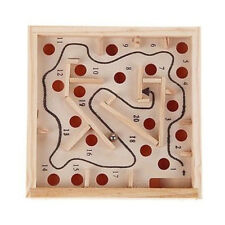 Labyrinth Game Wooden Maze Puzzle Educational Toy Board Ball Kid Child Gift