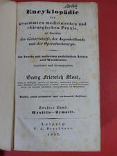 Libro most Encyklopädie CHIRURGIA MEDICINA Brockhaus medico nascita occhi scienza medica
