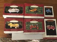 Lot of 6 Hallmark Keepsake Kiddie Car Classics Christmas Ornaments 1993 - 2001