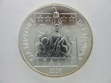 Repubblica,10 Euro Argento Silver Italia Campione del Mondo 2006 Fdc [z94]