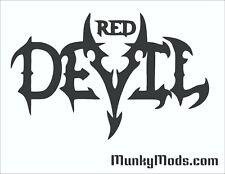 Powercolor Red Devil Logo PC Case Window Applique Vinyl Decal (Color Choices)