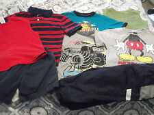 Lot Of 8 Boys Youth Size 4/5 4T Summer Shorts & Top Shirt Nice! Mickey Mouse