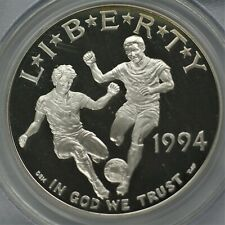 1994-S World Cup Us Silver Dollar Coin Pcgs Pr69 Dcam A-383