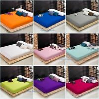 Fitted Sheet Only Egyptian Cotton 800 Thread Count Bed Fitted Multi Color/ Size