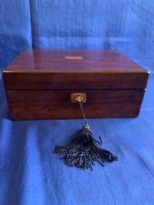 Victorian mahogany trinket keepsake box