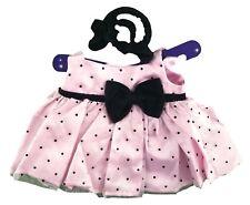 "Polka Dot Dress Pink Outfit Fits Build A Bear Workshop 12"" - 16"" Teddy Bears"