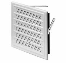 White Air Vent Grille 165mm x 165mm with Adjustable Shutter Ducting Cover T92