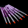 7pcs/set UV Gel Nail Art Brush Polish Painting Pen Kit For Salon Manicure DIY