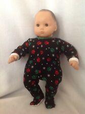 Bitty Baby Dog Paws Christmas pj sleeper pajamas 15 girl/boy doll clothes fit